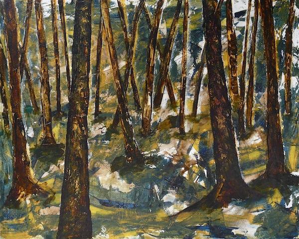 Frankenwald - acryl a.l.,(80x100cm)