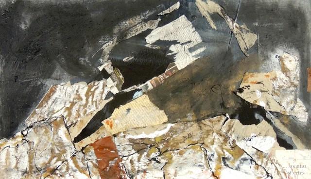 collage, zeichnung,a.P.,  30x50 cm